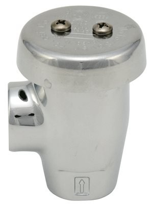 Water saver Faucet L100-3/8{ Water saver Angle Vacuum Breaker Chrome Plated, Plastic, 2.4