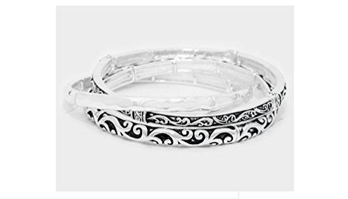 BRIGHTON Silver Filigree Stretch Bracelet product image