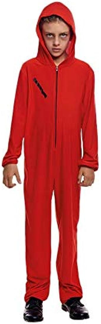 Disfraz La Casa de Papel Mono Rojo Cremallera Infantil Halloween ...