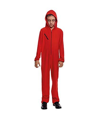 Disfraz La Casa de Papel Mono Rojo Cremallera Infantil Halloween Carnaval