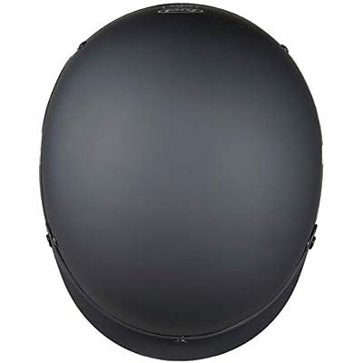 Fuel Helmets SH-HHFL66 Unisex-Adult Deluxe Shorty DOT Approved Motorcycle Half Helmet (Flat Black, Large): Automotive