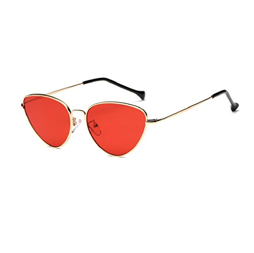 VIASA Women Men Summer Vintage Cat Eye Glasses Unisex Fashion Aviator Travel Sunglasses (Red, - Buy Glasses Vintage To Where Frames