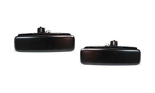 Evan-Fischer EVA18772055027 Door Handle Set of 2 Exterior Passenger & Driver Side RH LH Outer Front Plastic Black