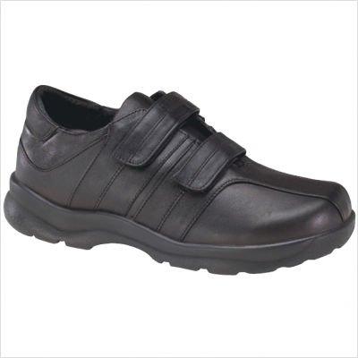 Apex Men's Y800M Velcro Black Walking Shoes