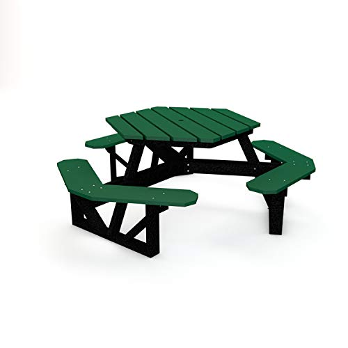 Frog Furnishings PB 6HEXGRE HEX Picnic Table, 6