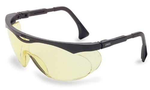 Uvex S1902 Skyper Safety Eyewear, Black Frame, Amber Ultra-Dura Hardcoat Lens
