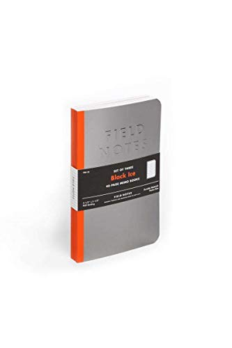 Field Notes Black Ice Special Edition Ruled Memo Books, 3-Pack (3.5x5.5-Inch) Winter 2016
