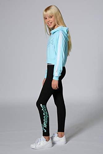 Pineapple Dancewear Girls Mesh Stripe Crop Hoody in Pale Blue New Spring 2020