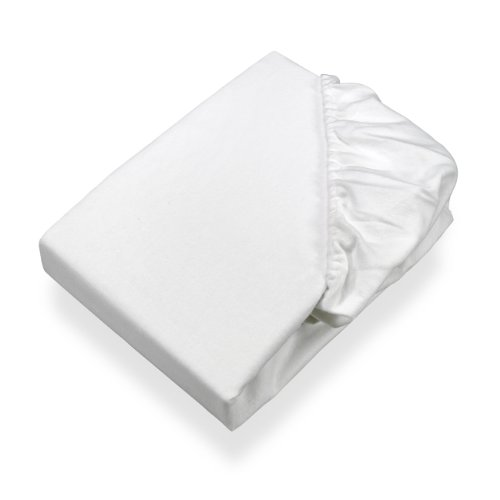 SETEX Molton Köper Matratzenschutz, Spannbetttuch, 90 x 200 cm, 100 % Baumwolle, Basic, Weiß, 1308090200404002