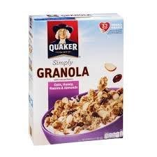 Quaker Simply Granola Oats, Honey, Raisins & Almonds 28 Oz. (Pack of 2) (2)