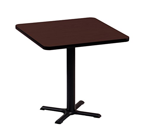 Correll BXT42S-21 Cherry Top and Black Base Square Bar, Café and Break Room Table, 42