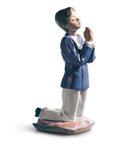 Lladro Communion Prayer Porcelain Figurine, Boy
