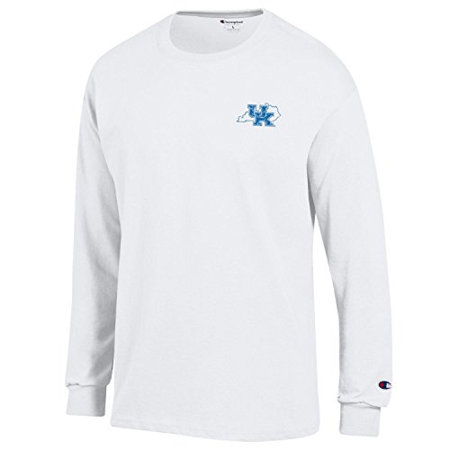 Champion NCAA Kentucky Wildcats Men's Men's Homecoming Long Sleeve T-Shirt, Large, White -
