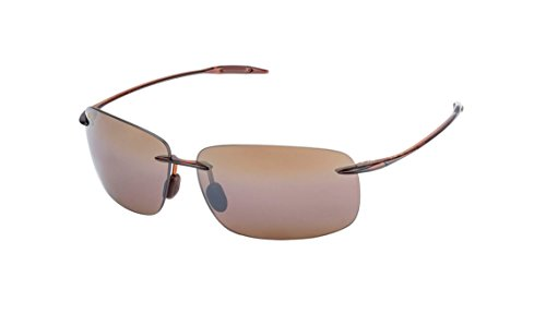 Maui Jim Breakwall H422-26 | Polarized Rootbeer Rimless Frame Sunglasses, HCL Bronze Lenses, with Patented PolarizedPlus2 Lens Technology