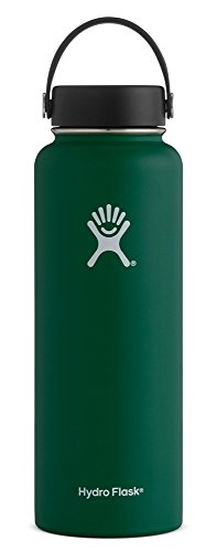 Hydro Flask 40 oz Double Wall Vacuum Insulated Stainless Steel Leak Proof Sports Water Bottle, Wide Mouth with BPA Free Flex Cap, Sage