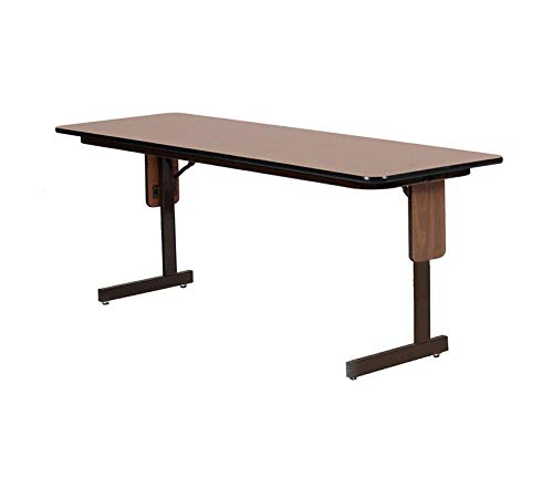 Deluxe Premium Collection High Pressure Laminate Classroom Training or Seminar Table with Folding Panel Leg Rectangular 24