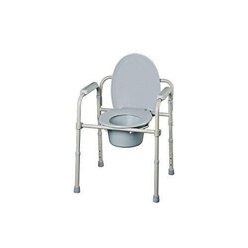 31w0hFor0LL. SS500 La silla con inodoro Excellent se puede utilizar como elevador de WC de altura regulable, como silla con inodoro para el dormitorio (incorpora una cubeta con asa) y como apoyo auxiliar para el WC Esta silla es apta para la ducha. Esta silla es apta para la ducha. Se pliega rápidamente sin necesidad de herramientas.