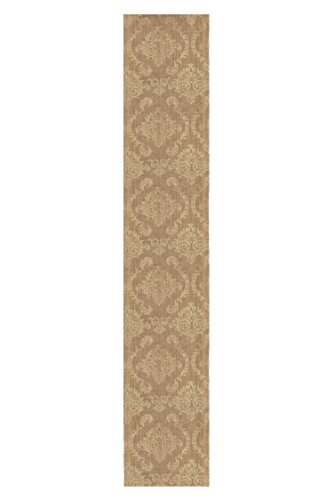 Heritage Lace Burlap Damask Table Runner, 13by 72-Inch, Gold