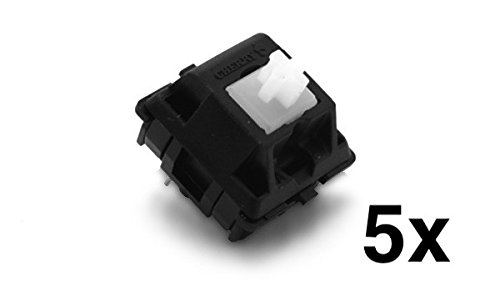 Cherry MX Clear Keyswitch (5 pack) - MX1AC1NN | Plate Mounted | Tactile Bump | by himalayanelixir