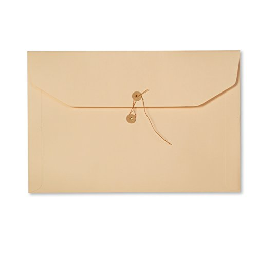 ALL-STATE LEGAL File Envelope, Button and String Closure, Legal Size, Heavyweight Manila 143 lb., Ungummed Flap, 100 per Box - Heavyweight String