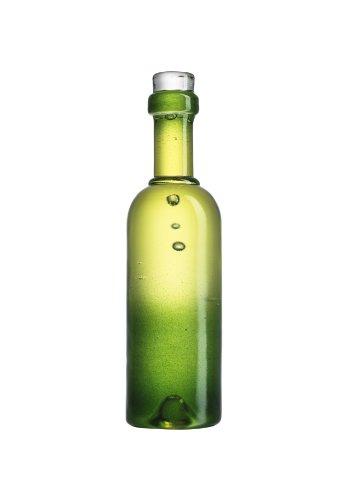 Kosta Boda Celebrate Wine Bottle Shaped Sculpture, Green