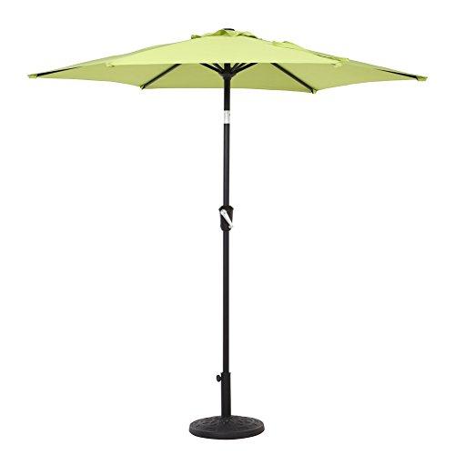 7.5 Feet Outdoor Patio Market Umbrella with Push Button Tilt and Crank, Green