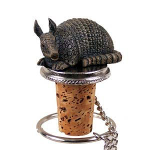 Armadillo Bottle Stopper by Conversation Concepts