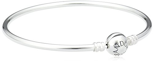 Pandora Women's Moments Sterling Silver Charm Bangle 21CM - 590713-21