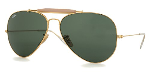 Ray-ban Outdoorsman II Gold Aviators RB 3029 L2112 62mm +SD Glasses+Cleaning - Outdoorsman Ban Ray Ii