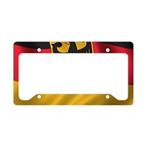 CafePress - Flag of Germany License Plate Holder - Aluminum License Plate Frame, License Tag Holder (Plate Specials Personalized Banner)