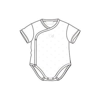 Bimbi c010800101–Pack de 2Bodies, manches courtes, blanc