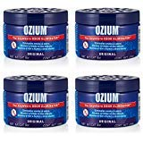 Ozium Smoke & Odor Eliminator 8oz (226g) Gel for Home, Office and Car Air Freshener, Original Scent (4 Pack)