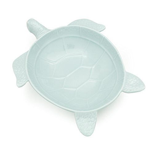 TP Lovely Gift Durable Sea Turtle Shaped Plastic Melamine Salad Bowls, Candy Dishes, Chip-Resistant BPA Free Easy Clean Party Favors Supplies(10.0 Inch Sky Blue)