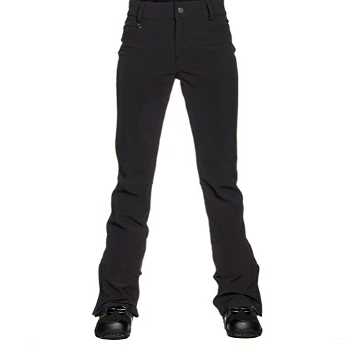 Roxy SNOW Women's Creek Softshell Fitted Pant, True Black, M