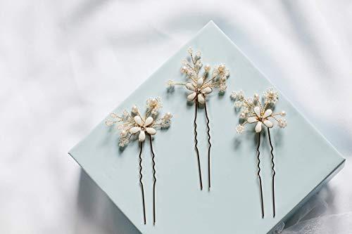 Emma - flower hair pins, bridal hair pins, boho wedding accessory, wedding hair accessory, bohemian wedding by Shirley & Audrey