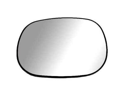 Fit System 88016 Driver Side Non-heated Replacement Mirror Glass with Backing Plate