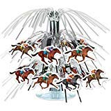 Beistle 59950 Horse Racing Mini Cascade Centerpiece, 7 1/2