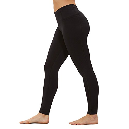 BALLY Total Fitness Tek Fleece Legging, Black (Large)