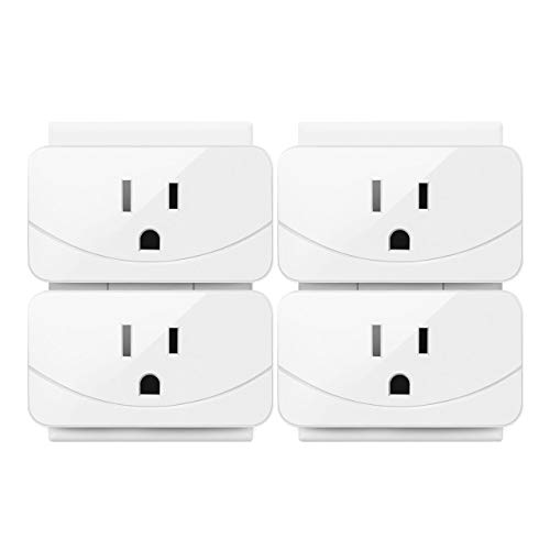 Enther Smart Plug Mini Wifi Smart Outlet 1 Pack, smart socket that Works with Amazon Alexa ,Remote Control Your Devices from Anywhere, No Hub Required, ETL and FCC Listed, White