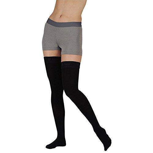 Juzo Soft Thigh High With Silicone Dot Band Short Open Toe 30-40mmHg, II, Beige by Juzo B003AKV3GM