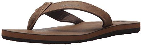 Quiksilver Men's Molokai Nubuck Sandal, Tan-Solid, 8 M (Nubuck Mens Sandals)