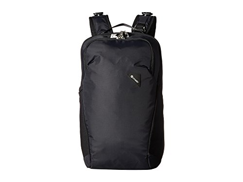 Pacsafe Vibe 20 Liter Anti Theft Travel Daypack - Fits 13 inch Laptop, Lightweight - With Lockable Zippers, Black
