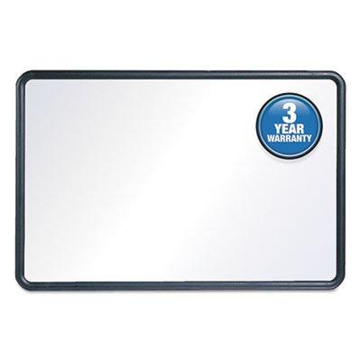Contour Dry-Erase Board, Melamine, 24 x 18, White Surface, Black Frame, Sold as 1 Each