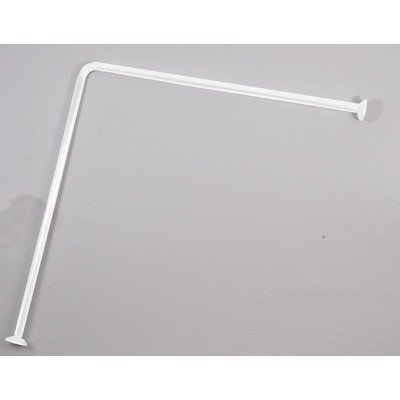 EVIDECO Wall Mounted Corner Shower Curtain Rod