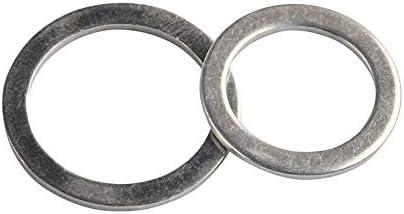 CHENHAN Flat washers 280Pcs M5-M20 Aluminum Flat Gaskets Washers Gasket Metal Sealing Washer Assorted Aluminum Sealing Rings Gasket Set Hard