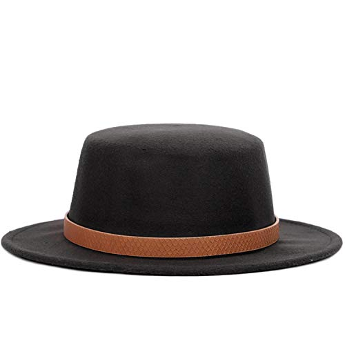 Solid Color Wool Fedoras Autumn Winter Woman Top Hat Man Felt Wide Brimmed Bowler Ladies Vintage Cylinder Khaki