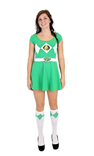 Power Rangers Green Ranger Costume Skater Dress (Juniors -