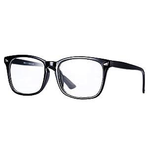 Pro Acme New Wayfarer Non-prescription Glasses Frame Clear Lens Eyeglasses (Black)