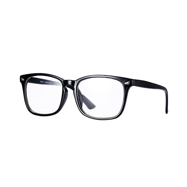 6c3054eb9b Pro Acme New Wayfarer Non-prescription Glasses Frame Clear Lens Eyeglasses  (Black)