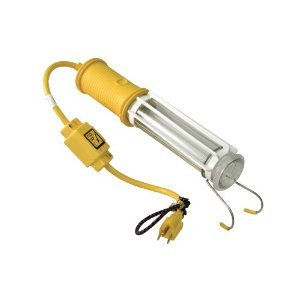 Reelcraft 1-163-3-8 Stubby II Fluorescent Light with 18-Feet Cord Outlet Accessory